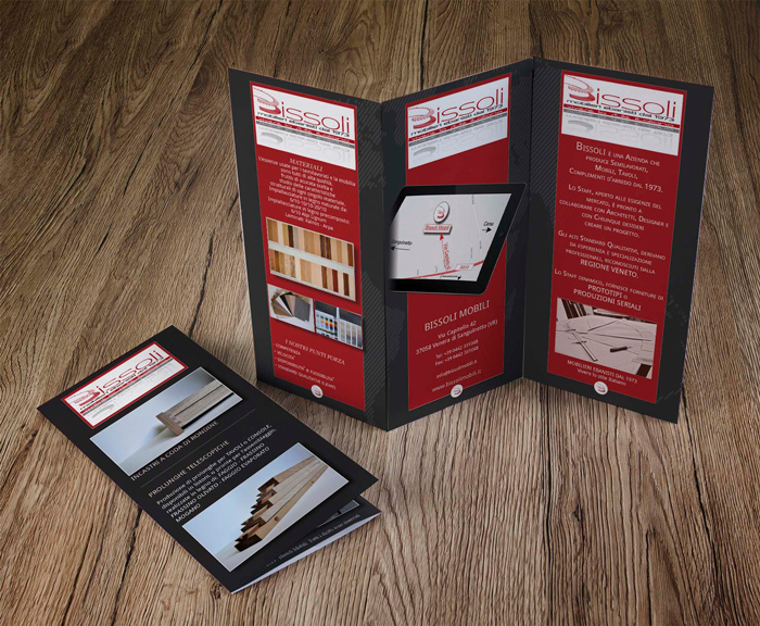 Tescaroli Creative and Studio e Creazione Brochure Bissoli Mobili