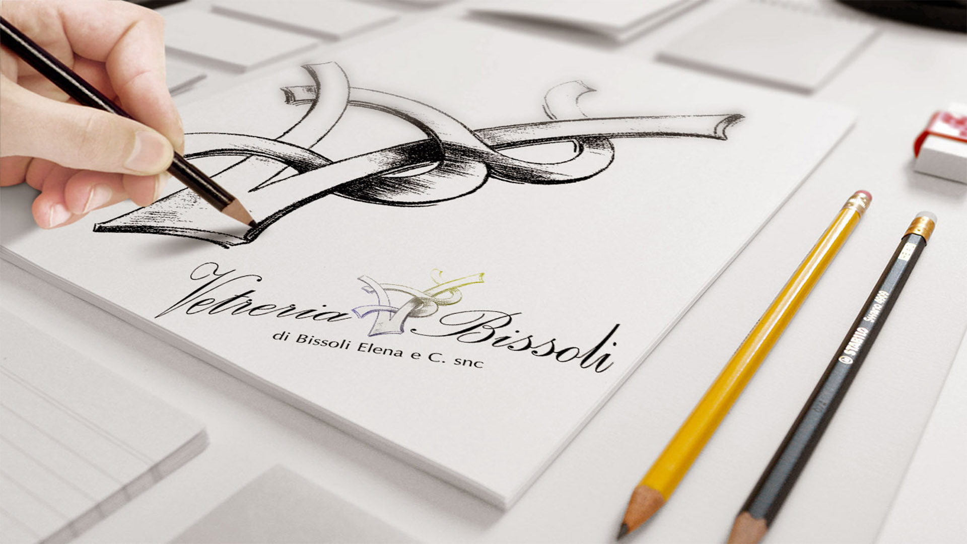 Tescaroli Creative and Logo Vetreria Bissoli